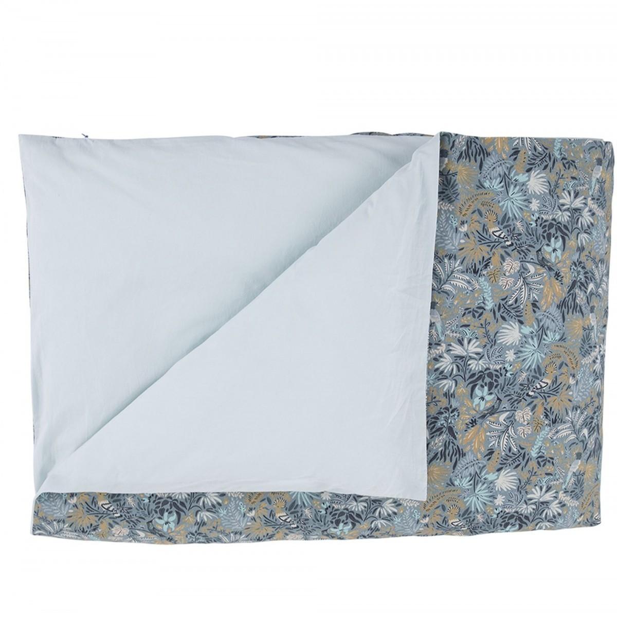 housse de couette en coton lav imprim oiseaux bleu. Black Bedroom Furniture Sets. Home Design Ideas