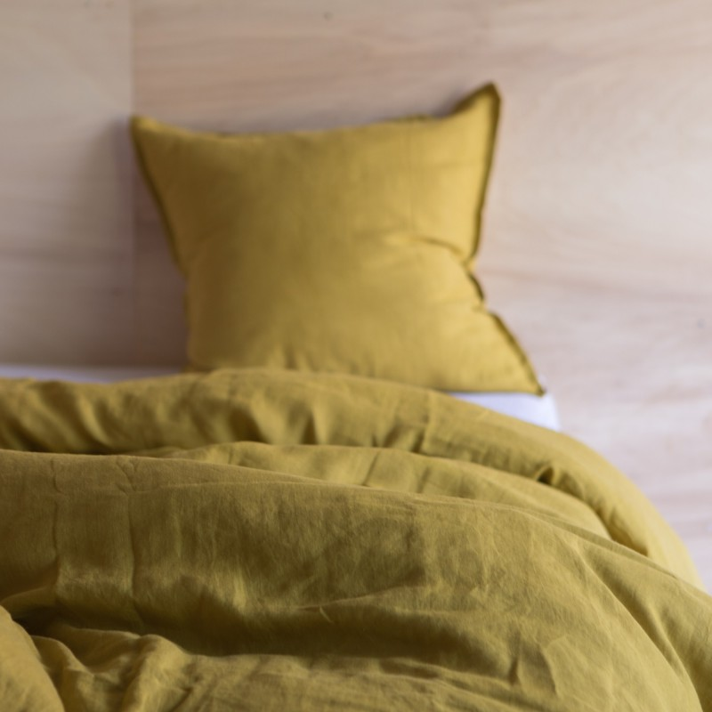 WASHED LINEN DUVET COVER CUMIN