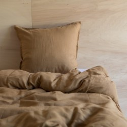 WASHED LINEN DUVET COVER TABAC