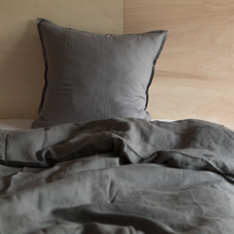 WASHED LINEN DUVET COVER ORAGE
