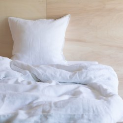 WASHED LINEN DUVET COVER SNOW