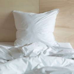 WASHED COTTON DUVET COVER SNOW