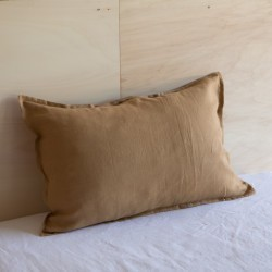 WASHED LINEN EUROSHAM PILLOWCASE TABAC