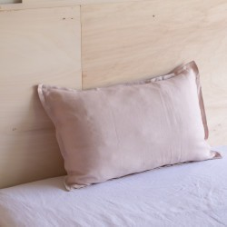 WASHED LINEN EUROSHAM PILLOWCASE DRAGÉE