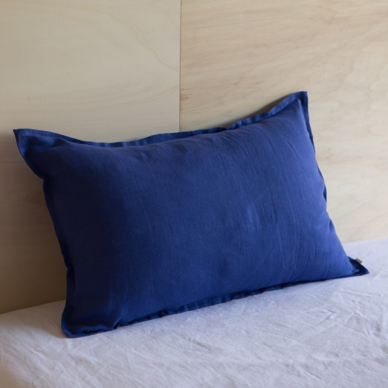 WASHED LINEN EUROSHAM PILLOWCASE MAJORELLE