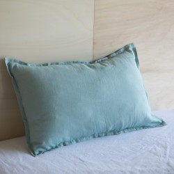 WASHED LINEN EUROSHAM PILLOWCASE NUAGE