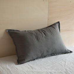 WASHED LINEN EUROSHAM PILLOWCASE ORAGE