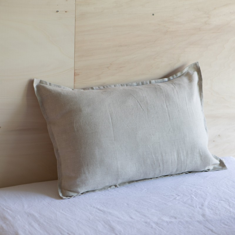 WASHED LINEN EUROSHAM PILLOWCASE NATUREL