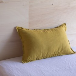 WASHED LINEN EUROSHAM PILLOWCASE CUMIN