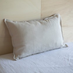 WASHED LINEN EUROSHAM PILLOWCASE DUNE