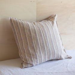 WASHED LINEN EUROSHAM CARAMEL STRIPES