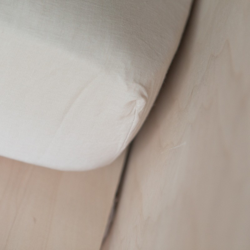 WASHED LINEN FITTED SHEET DUNE