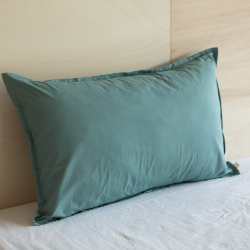 WASHED COTTON EUROSHAM PILLOWCASE BALSAM