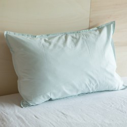 WASHED COTTON EUROSHAM PILLOWCASE MINT