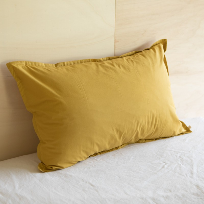 WASHED COTTON EUROSHAM / PILLOWCASE AMBRE