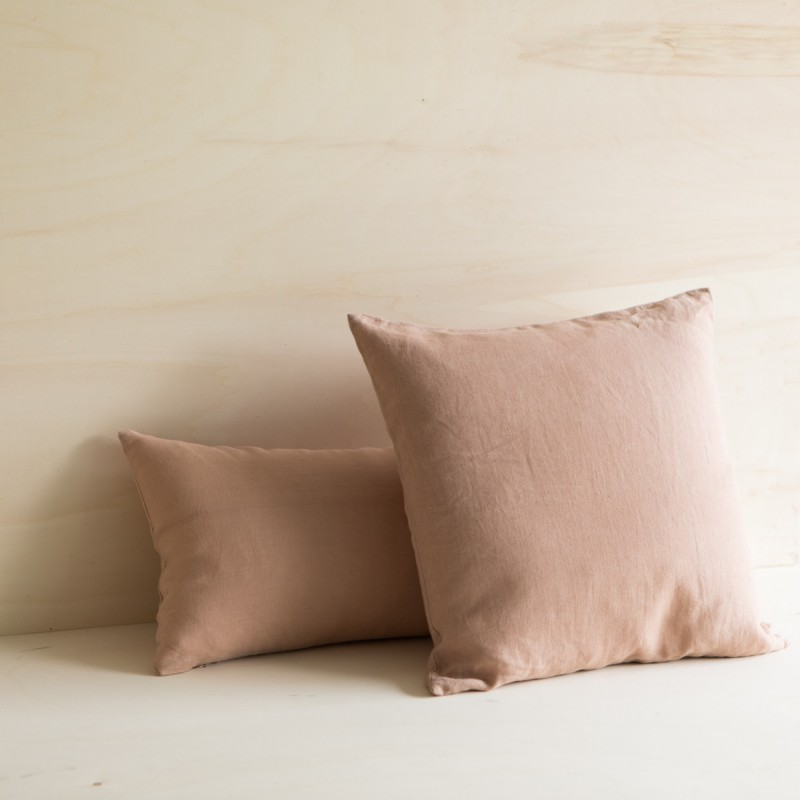 WASHED LINEN CUSHION GLAISE