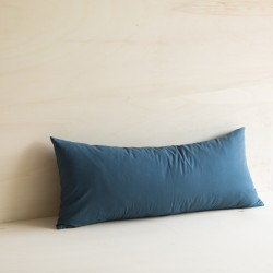 WASHED COTTON CUSHION CELESTE