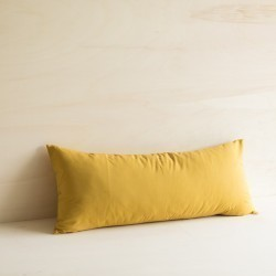 WASHED COTTON CUSHION AMBRE