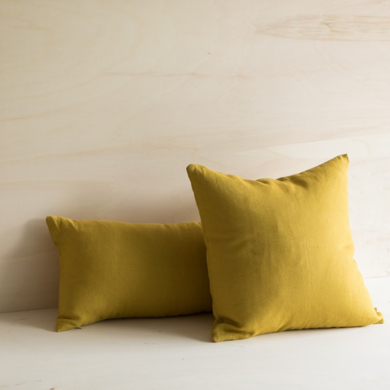 WASHED LINEN CUSHION CUMIN