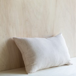 SAO PAULO STRIPED & WASHED LINEN CUSHION GLAISE/ MILK