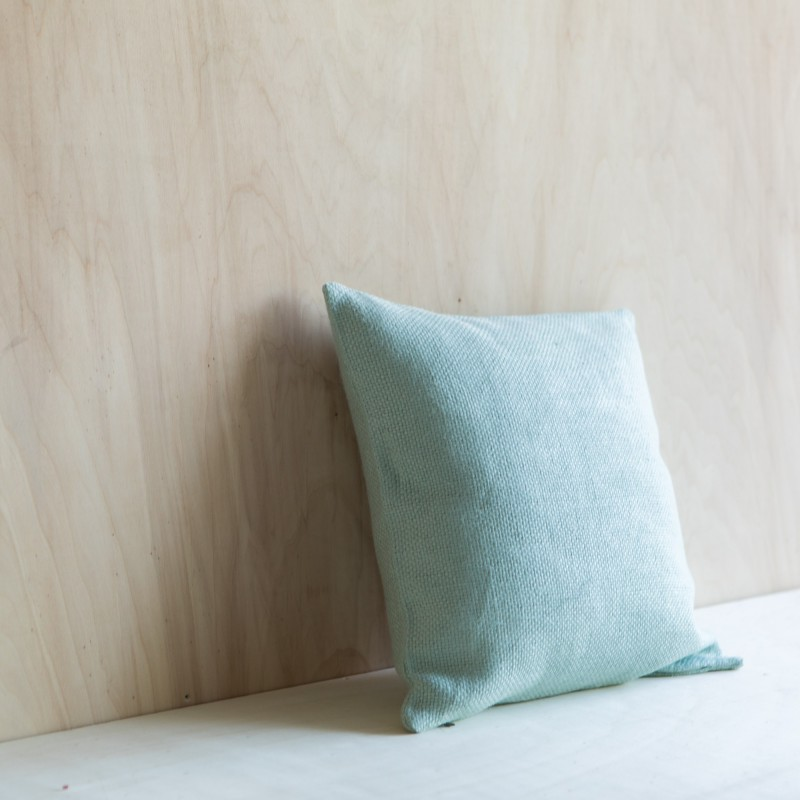 ACAPULCO LINEN CUSHION AQUA