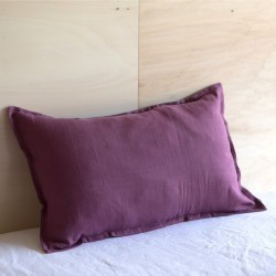 WASHED LINEN EUROSHAM & PILLOWCASE VIGNE