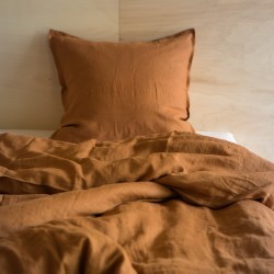 WASHED LINEN DUVET COVER CARAMEL