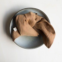 WASHED LINEN NAPKIN TABAC