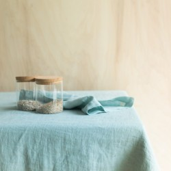 WASHED LINEN TABLECLOTH NUAGE