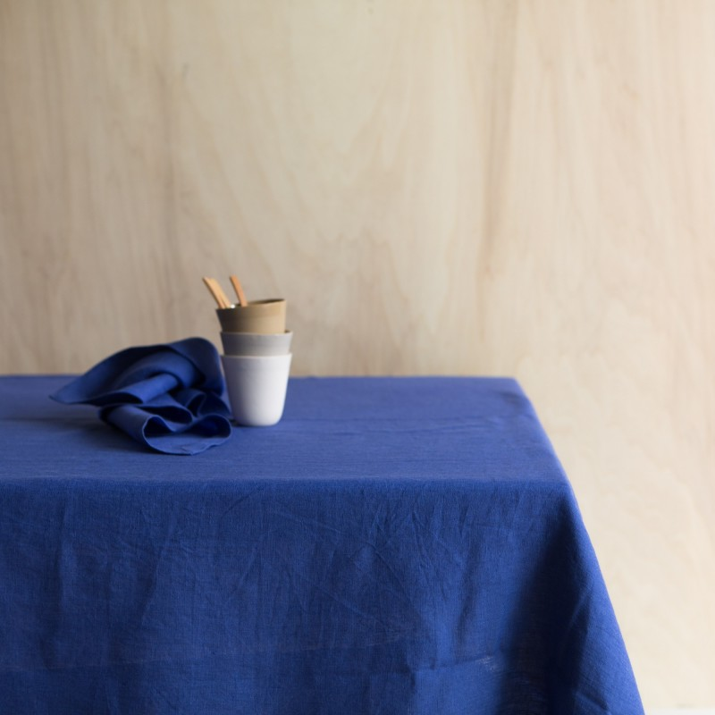 WASHED LINEN TABLECLOTH MAJORELLE