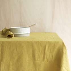 WASHED LINEN TABLECLOTH CUMIN