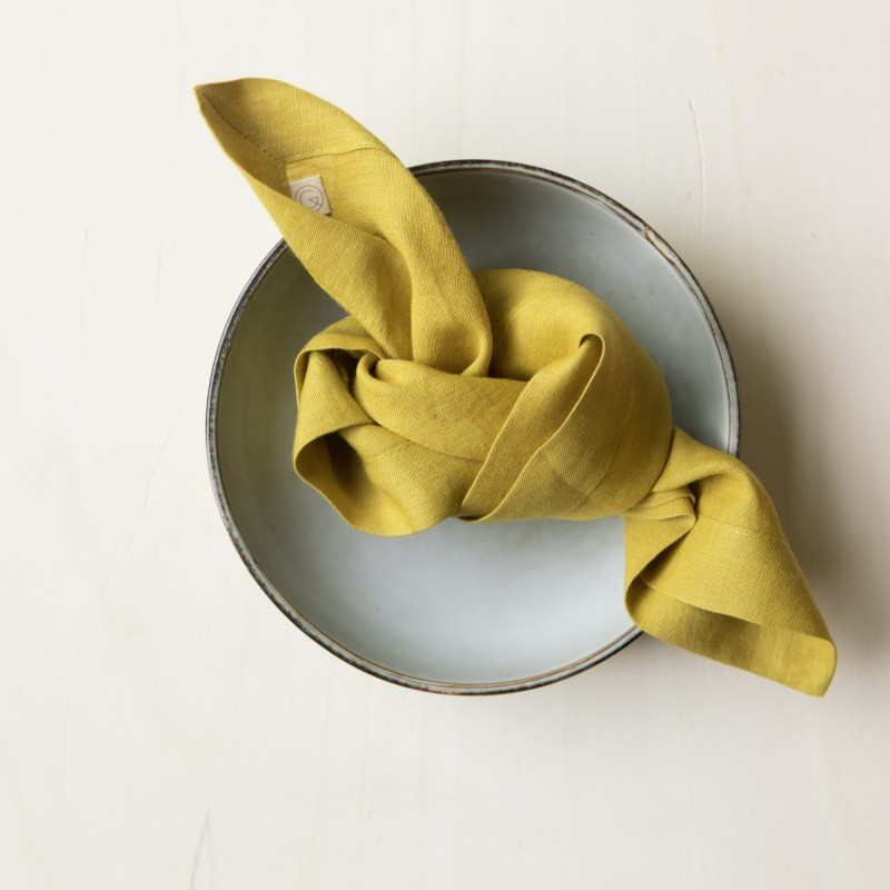 WASHED LINEN NAPKIN CUMIN