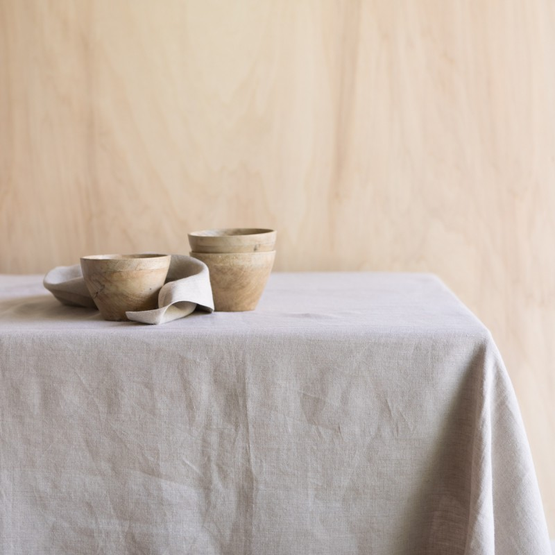 WASHED LINEN TABLECLOTH NATUREL