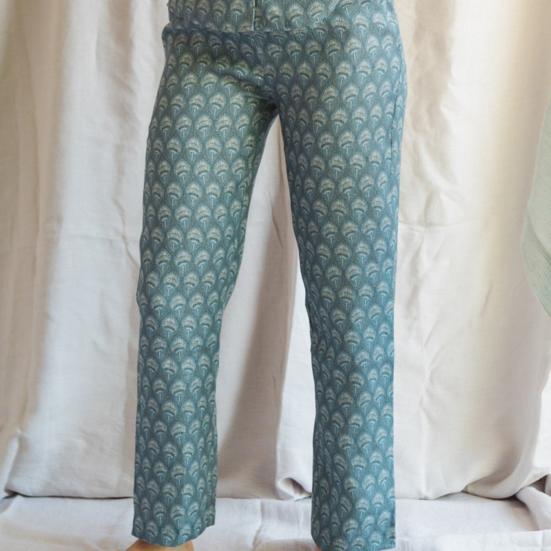 TROUSER PLUME BLUE HEAVEN