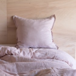WASHED LINEN DUVET COVER DRAGEE