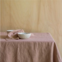 WASHED LINEN TABLECLOTH GLAISE