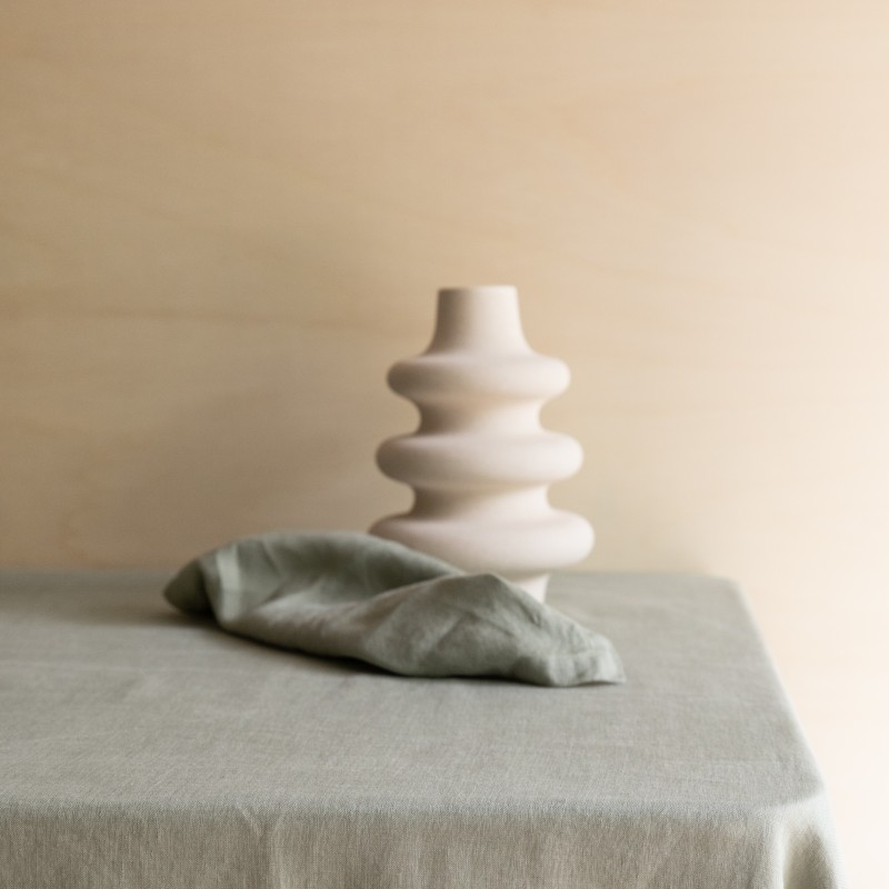 WASHED LINEN TABLECLOTH BRUME