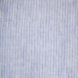STRIPED & WASHED LINEN DUVET COVER BLUE/ MILK