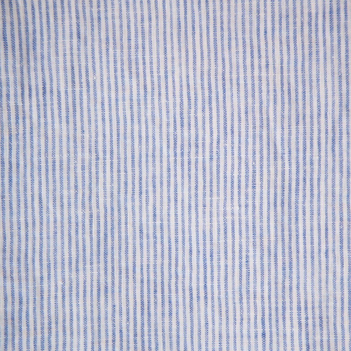 Striped Washed Linen Tablecloth Blue Milk