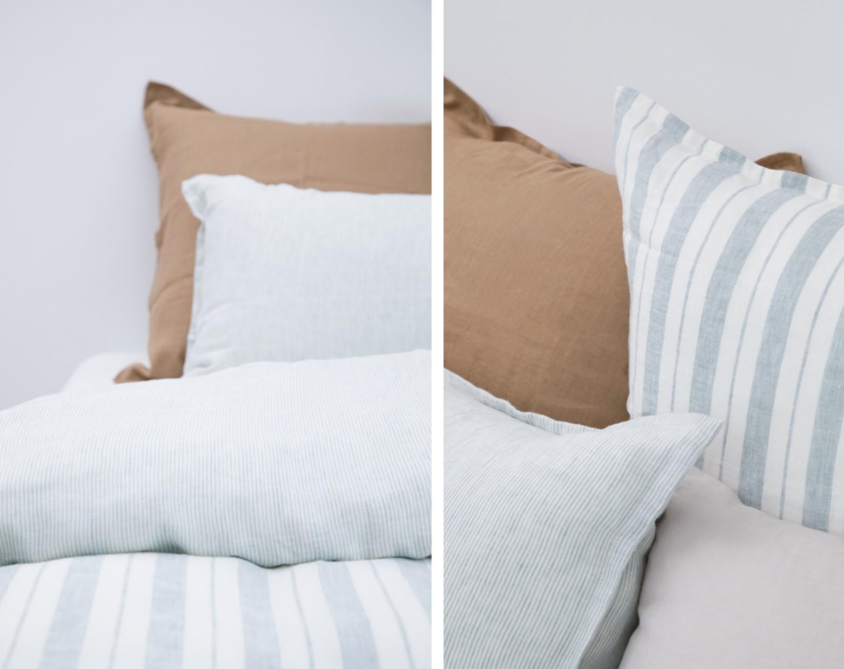 taie d 39 oreiller en lin lav ray tilleul milk. Black Bedroom Furniture Sets. Home Design Ideas