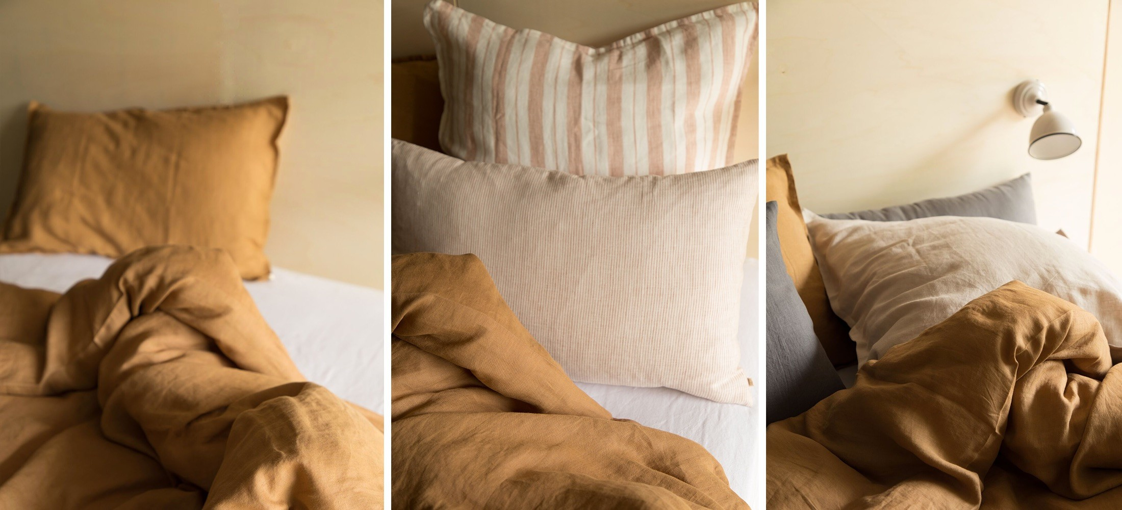 new in envolée collection: bedlinen, table linen, cushions, mattress and accessories